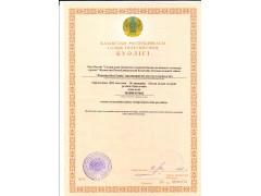 Свидетельство налогоплатилтщика Евразия Steel Trade - Казахская версия